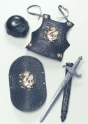 Kid Armour Set 3 Piece Halloween Novelty Toy Weapons & Armour for Fancy Dress Costumes Accessory
