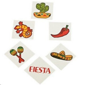 Pack of 12 - Fiesta Mexican Western Temporary Tattoos - Great Boys Girls Party Loot Bag Fillers