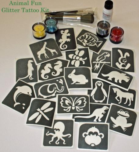 Animal fun glitter tattoo kit ebay for Tattoo kit ebay
