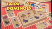 Educational Toys : Wooden Farm Animal Numbered Dominoes [Toy]