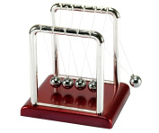 Micro Trader Classic Desk Newtons Cradle Balance Ball - 9 X 7.5X 9.5cm