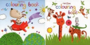 2 Marzipan Childrens Colouring Books - Dog & Zoo Animals Design