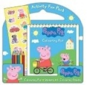 Peppa Pig Activity Fun Pack stickers,5 colouring pencils,colouring pad