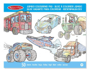 Melissa and Doug Jumbo Colouring Pad Vehicles