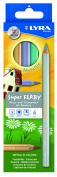 Lyra Super Ferby 3721062 Colouring Pencil Varnished Cardboard Packaging 6 Assorted Metallic Colours