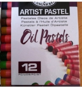 12 ASSORTED OIL PASTELS COLOURS ASSORTED