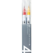 Zig Clean Colour Real Brush Markers 4/Pkg-Pop