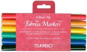 Fabrico Dual-Tip Markers 6/Pkg-Landscape