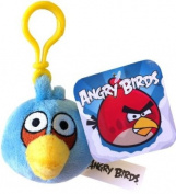 Angry Birds Soft Toy. Bag Clip Blue Bird