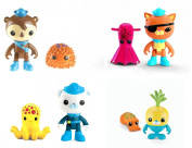 Octonauts Figure Bundle Pack Kwazii and the Vampire Squid & Shellington with Sea Urchin & Barnacles and the Octopus & Tunip and the Cuttlefish 4 Items