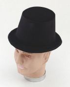 Top Hat. Black Flock (Hats) - Male - One Size
