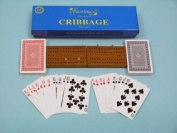 Cribbage set with wood playing board-00192