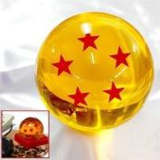Acrylic Dragonball Replica Ball (Large/5 Stars) Large Size 7CM