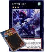 YuGiOh : LTGY-EN086 1st Ed Totem Bird Secret Rare Card -