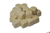 Big Cherry 24x Blank 16mm D6 (6 sided) Dice - Ivory