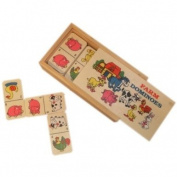 Childrens Wooden Box of Farm Dominoes [Toy]