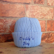Daddy's Boy Newborn Novelty Knitted Hat