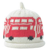 Merry Berries Cream Hat with Big Red Buses