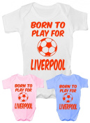 Born to Play For Liverpool~ Babygrow~Babies Gift Boy/Girl Vest Babies Clothing