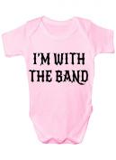 I'm With The Band Funny Babygrow Babies Gift Boy/Girl Vest Babies