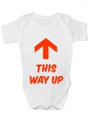 This Way Up ~ Funny Babygrow Gift Boy/Girl Vest/Gift