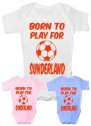 Born to Play For Sunderland football ~ Babygrow~Babies Gift Boy/Girl Vest Babies Clothing
