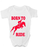Born To Ride/Horse Riding ~ Funny Babygrow ~ Babies Gift Boy/Girl Vest Babies