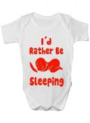 I'd Rather Be Sleeping Funny Babygrow Babies Gift Boy/Girl Vest Babies