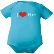 Bodysuit I love Mom , Baby suit short sleeve, 14 colours, 5 sizes from 0-24 months