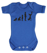 Baby Buddha - Evolution To A Break Dancer Baby Babygrow 100% Cotton Sizes 0M Upto 12M in 5 Colours