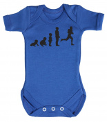 Baby Buddha - Evolution To A Footballer Baby Babygrow 100% Cotton Sizes 0M Upto 12M in 5 Colours