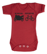 Baby Buddha - Your Dads Bike My Dads Bike Baby Babygrow 100% Cotton Sizes 0M Upto 12M in 5 Colours