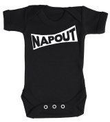 Baby Buddha - Nap Out Baby Babygrow 100% Cotton Sizes 0M Upto 12M in 5 Colours