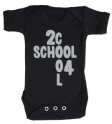 Baby Buddha - 2 Cool 4 School Baby Babygrow 100% Cotton Sizes 0M Upto 12M in 5 Colours