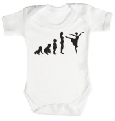 Baby Buddha - Evolution To A Dancer Baby Babygrow 100% Cotton Sizes 0M Upto 12M in 5 Colours