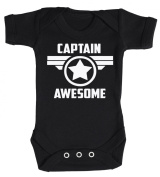 Baby Buddha - Captain Awesome Star Baby Babygrow 100% Cotton Sizes 0M Upto 12M in 5 Colours