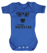 Baby Buddha - Future RockStar Baby Babygrow 100% Cotton Sizes 0M Upto 12M in 5 Colours