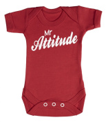 Baby Buddha - Mr Attitude Baby Babygrow 100% Cotton Sizes 0M Upto 12M in 5 Colours
