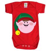 Red Baby 6-12 Months Santa's Little Helper Baby Grow