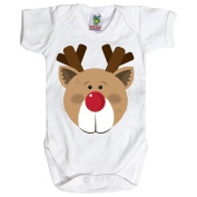 White Baby 3-6 Months Rudolf the Red Nosed Reindeer! Baby Grow