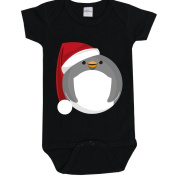 Black Baby 0-3 Months Santa Penguin Baby Grow