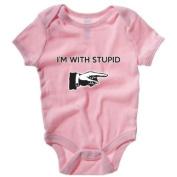 Im with Stupid Babygrow