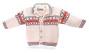 Toddler's Organic Cotton Preppie Cardigan Jumper - Hand Knitted