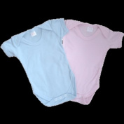 Set Of Two Pink Organic Cotton Baby Bodysuits - Size 3-6 Months