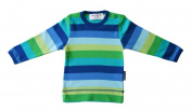 Toby Tiger Unisex Baby Organic Stripe Long Sleeve T - shirt