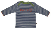 Loud + Proud Unisex Baby Striped Long Sleeve Shirt Organic Cotton for 6 - 12 Months Blue