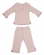Koeka 50/ 56cm Lotty Dots Pyjamas for 0 - 2 Months Unisex Baby Pink with White Dots
