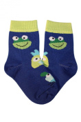 Weri Spezials Baby Socks, Funny animals, Blue, Quality merc.Cotton