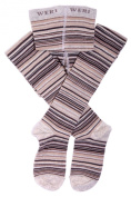Weri Spezials Baby and Children Tights, Fine Stripes , Silver