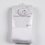 Baby cotton rich tights by Preetee Kids - white